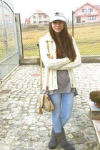 kenvelo boots - Tally Weijl jeans - Addidas hat - H&M blouse - c&a cardigan
