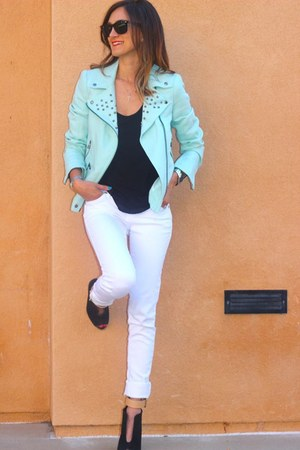 Zara jacket - t by alexander wang shirt - Zara wedges
