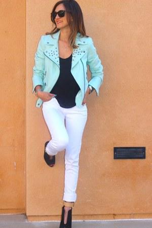 Zara jacket - t by alexander wang shirt - Zara wedges