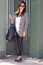 Topshop leggings - Givenchy bag - H&M cardigan - Chanel flats