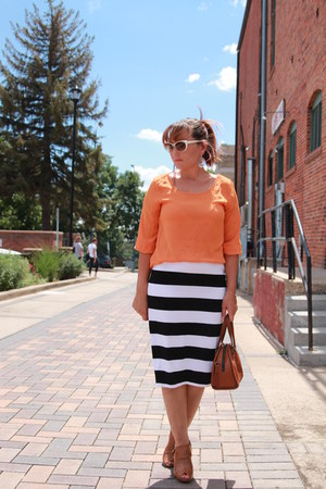 tawny knotted Charlotte Russe boots - carrot orange Charming Charlies shirt