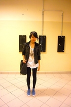 Mango jacket - Forever 21 shirt - Forever 21 leggings - pull&bear shoes - flea m