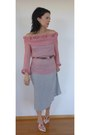 Pink-chiffon-dries-van-noten-blouse-silver-mesh-dries-van-noten-skirt