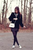 black velvet Yves Saint Laurent jacket - white Alexander Wang bag
