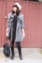 Zara top - Zara shoes - American Apparel dress - Zara coat - Zara tights