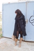 silence and noise dress - Zara coat - Zara boots - Zara accessories