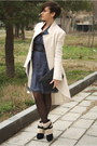 Navy-chloe-dress-eggshell-elizabeth-coat-black-boots-black-bag