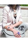 Gray-pull-bear-pants-pink-zara-blazer-beige-asos-shoes-gray-promod-accesso