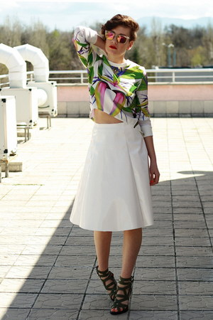 Choies top - asos skirt - Givenchy heels