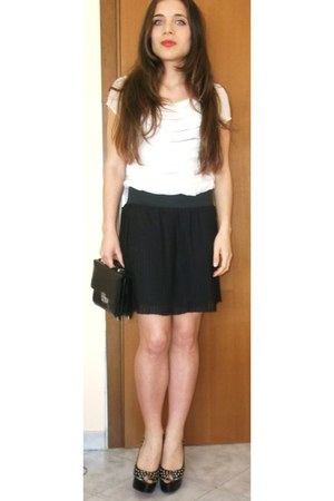 Sheinside shoes - skirt - Zara t-shirt