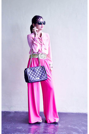 palazzo pants IconiQue pants - black shades Dolce & Gabbana glasses