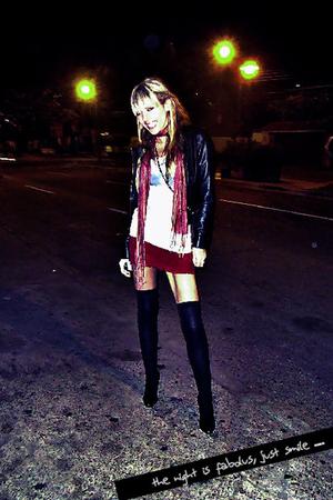 47 sreet jacket - no one scarf - kosiuko skirt - no one tights - no one shirt -