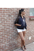 Zara shorts - H&M jacket - H&M top - Zara sandals