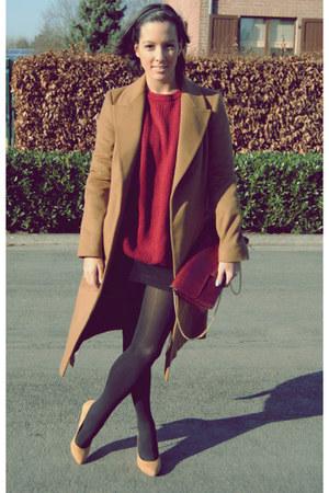 Zara coat - vintage jumper - River Island heels