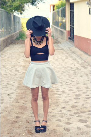 black Nasty Gal top - denim American Apparel skirt