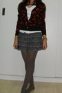 Pantyhose-socks-blouse-floral-cardigan-ladylike-skirt-gold-swatch-watch