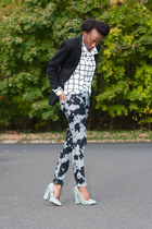 CurrentElliot jeans - Forever 21 blouse - checkered Qupid pumps