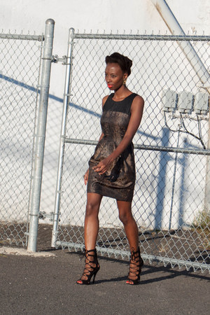 snake print H&M dress - cut out Breckelles sandals