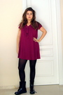 Pink-mango-dress-purple-doc-martens-boots-black-tights