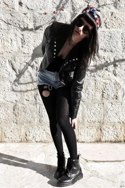 Leather-dr-martens-boots-leather-orsay-jacket-cropped-ralph-lauren-shorts