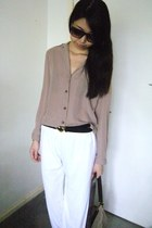heart buckle belt - shirt - pants