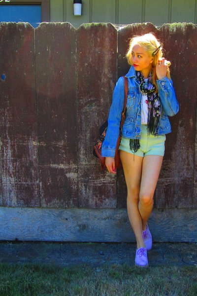 banana republic jacket - sperry topsider shoes - Urban Outfitters scarf