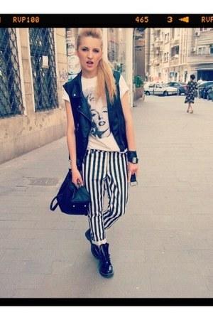H&M jeans - Dr Martens boots - H&M blazer - Croptown bag - asoscom accessories
