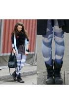 Wrangler boots - Only leggings - vintage shirt - Only purse - Zara t-shirt - vin
