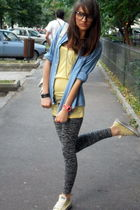 Pull and Bear accessories - vintage shirt - Koton leggings - Bershka t-shirt - C