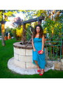 Teal-mango-dress-red-marypaz-bag-red-marypaz-heels