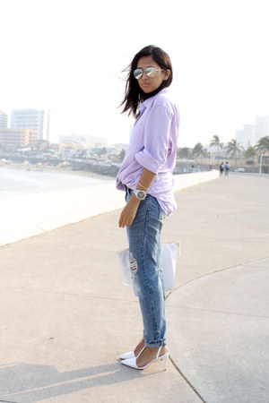 Zara bag - Bershka jeans - second hand shirt - Zara heels