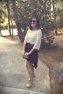 Vintage-sunglasses-leather-heels-eggshell-lace-h-m-blouse-black-zara-skirt