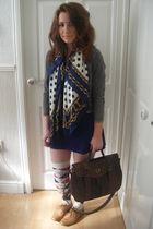 H&M jacket - Topshop dress - Primark scarf - new look accessories - River Island