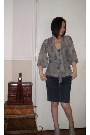 Topshop blouse - Topshop top - H&M skirt - Shoecrazee shoes