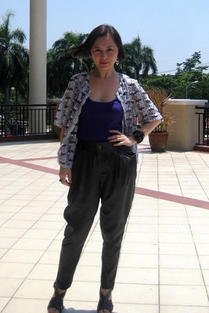 vintage blouse - Topshop top - TSG pants - AC632 accessories - dior accessories