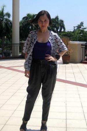 vintage blouse - Topshop top - TSG pants - AC632 accessories - dior accessories