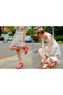 Red-zara-shoes-light-pink-chicnova-dress