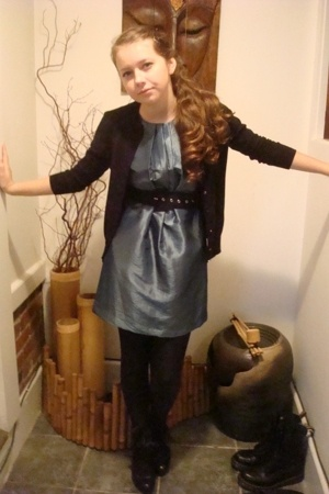 JCrew sweater - Forever21 dress - Forever21 belt - Capizio tights - Nordstrom sh