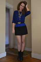 Urban Outfitters belt - leather Steve Madden boots - Zara dress