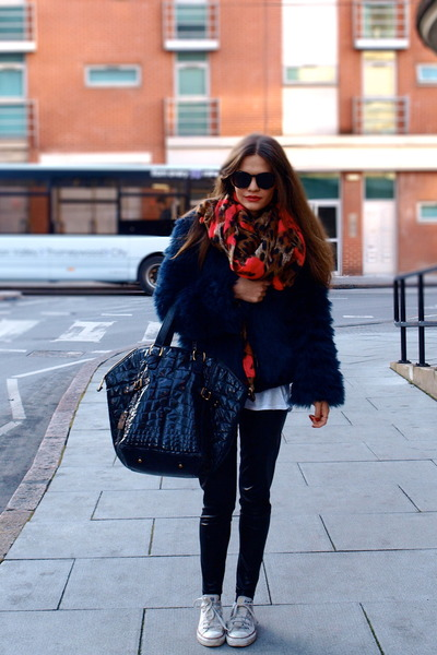 Zara jacket - YSL bag - Converse sneakers