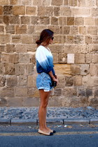 Zara shirt - Levis shorts - Chanel flats