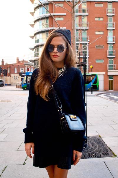 H&M boots - Zara bag - firmoo sunglasses