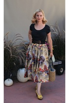 Anthropologie shirt - Anthropologie belt - vintage skirt - Anthropologie shoes -