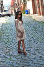 Nude-asos-dress-lauren-merkin-bag-crimson-betsey-johnson-sunglasses