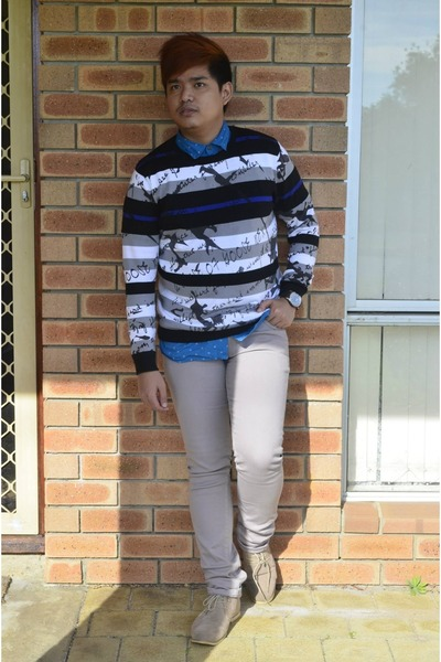 sweater cotton on sweater - collar cotton on top - skinny Just jeans pants