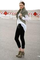 navy corduroy LC Lauren Conrad pants - dark khaki suede inc boots