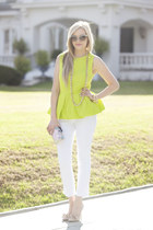 Bold in Bloom: Peplum Top, Crop Pant, Bow Shoe