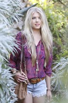 Gypsy05 blouse - sam edelman boots - 49 square miles bag - One Teaspoon shorts