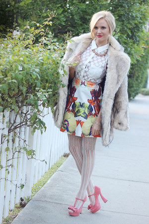 josh goot skirt - Nasty Gal jacket - Nasty Gal shirt - Miu Miu pumps