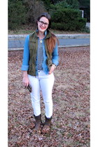 Paige jeans - Frye boots - JCrew top - kate spade wallet